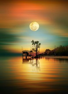 a good time for pray by iD's - Photo 231660057 / Beautiful Nature Wallpaper, Beautiful Moon, Beautiful Landscapes, Beautiful World, Beautiful Images, Landscape Art, Landscape Paintings, Landscape Photography, Nature Photography