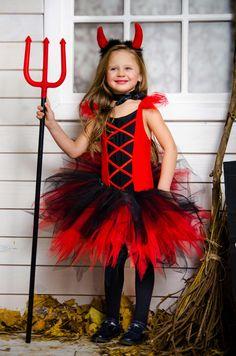 Детский карнавальный костюм для девочек «Чертовка»