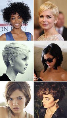 Ideias de cortes de cabelo - curtos - Ricota Não Derrete