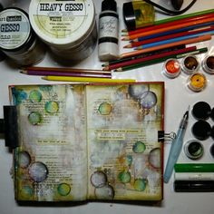 Original pinner sez:http://artistycrafty.blogspot.ie/2015/01/freedom-of-my-journal-pages-how-to.html