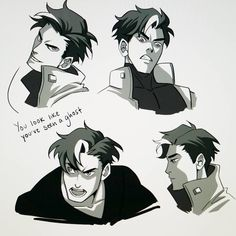 Playing with Jason's face #jasontodd #sketch #expressions #funstuff