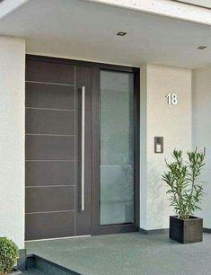 New contemporary front door entrance decor 21 ideas Modern Entrance Door, Modern Front Door, Wooden Front Doors, Front Door Entrance, House Front Door, House Entrance, The Doors, Entry Doors, Sliding Doors