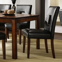 HomeVance 2 Piece Roxton Keyhole Side Chair Set Dining Room FurnitureDining