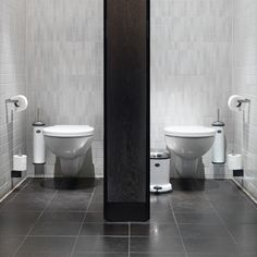 Wall mounted bathroom accessories.