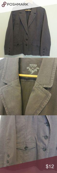 Cute Brown Blazer Dressy brown blazer. Nice medium brown shade, excellent condition. 98% cotton, 2% spandex. Sonoma Jackets & Coats Blazers