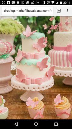 New Baby Shower Girl Cake Ideas Shabby Chic Ideas Baby Cakes, Girl Cakes, Sweet Cakes, Cute Cakes, Pretty Cakes, Baby Shower Cakes, Beautiful Cakes, Stage Patisserie, Fondant Cakes