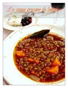 Comme je vous l'ai déjà dit, mercredi, c'est jour de légumes secs ici en Grèce, alors aujourd'hui ce sera soupe de lentilles (Beaucoup de Grecs ne connaissent que cette facon de faire les lentilles). Cette soupe est un des plats préférés des grands et...