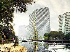 BIG divulga imagens de torres de uso misto projetadas na Flórida, Estados Unidos | PiniWeb
