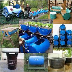 13 Great Ways to Reuse A 55 Gallon Barrel is part of Barrels diy - Water Barrel, Rain Barrel, Pvc Projects, Outdoor Projects, Plastic Barrel Ideas, Plastic Barrel Projects, Decoration Cocktail, 55 Gallon Drum, Water Collection