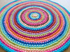 crochet mandala ~ tutorial.(funda puff? )