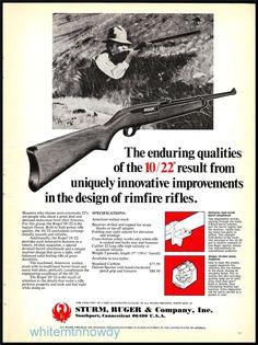 1976 RUGER 10/22 Rimfire Rifle AD Advertising : Other Collectibles at GunBroker.com