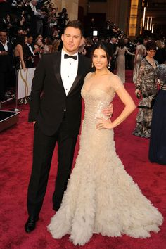 Loved this dress and his classic tux...The Classic Movie Star Award: Channing Tatum