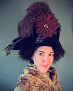 Festive Attyre: a pirate bicorn. Jen transformed a floppy felt hat from Target into this fantastic bit of costume!