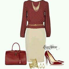 A fashion look from July 2013 featuring Bea Yuk Mui blouses, Christian Louboutin pumps und Yves Saint Laurent handbags. Browse and shop related looks. Mode Outfits, Office Outfits, Fashion Outfits, Womens Fashion, Fashion Trends, Work Fashion, Modest Fashion, Fashion Looks, Business Mode