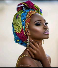 "Editorial: ""African Queens"" Adesola Adeyemi and Chinelo Ikegbune for Prince Meyson Photography - Head Wraps African Beauty, African Women, African Fashion, African Style, African Makeup, African Models, Ankara Fashion, Black Women Art, Black Girls"