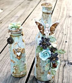 Alter It Any Way You Like! Mixed Media home decor bottles with Miranda on Live…