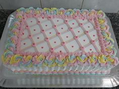 Cake Decorating For Beginners, Cake Decorating Designs, Cake Decorating Videos, Pastel Rectangular, Cupcake Frosting Recipes, Square Cakes, Snack, Sheet Cakes, Chocolate