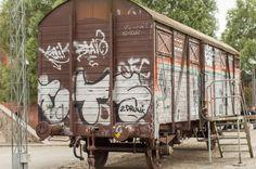 Islands Brygges Lokalhistoriske forening og arkivs togvogn på havnekajen ved Islands brygge.. #Islandsbrygge #Bryggen #Lokalarkiv #Togvogn