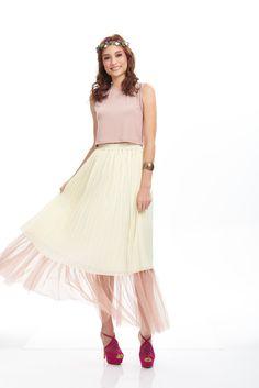 Midsummer's day Boho Faerie  #stylebysyaxseacitizen #seacitizencom http://www.sea-citizen.com/stylebysya-daffodil-nude-tulle-skirt