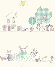 Lilac / Pink - 10721 - Cats & Dogs - Kids - Holden Decor Wallpaper: Amazon.co.uk: DIY & Tools