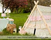 Children's A-Frame Ruffle Tent by Teepee and Tent