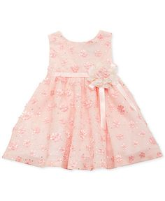Rare Editions Baby Girls' Special Occasion Dress - Kids Girls Dresses - Macy's rehearsal with a sweater