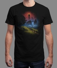 """""""Over the Hill"""" is today's £8/€10/$12 tee for 24 hours only on www.Qwertee.com Pin this for a chance to win a FREE TEE this weekend. Follow us on pinterest.com/qwertee for a second! Thanks:)"""