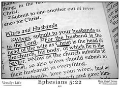Bible verse about submission to your husband