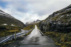 I love traveling by car. You can stop almost anywhere but most of all you get to see the landscape while it passes by. This road was on the way to Saksun and there was just something about the way the road was just disappearing endless that caught my eye // Words & photo: @bobbyanwar Traveling mate: @kuld  #FaroeIslands #VisitFaroeIslands #AtlanticAirways by visitfaroeislands