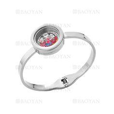 pulsera plateado moda con cristal color surtido en acero inoxidable para mujer -SSBTG164562