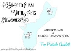 PCSing to Guam with pets can be stressful, this post is to help share info. Free Printable Checklist & info to make it easier for Newcomers! Pet Shipping, Moving To Germany, Dog Test, Moving Overseas, Navy Life, Military Spouse, Guam, Paperback Books, Free Printables
