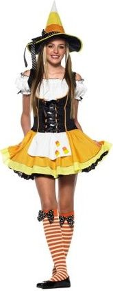 Candy Corn Witch Teen Costume  Product #: WC148005