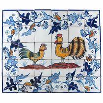 Rooster & Hen Talavera Tile Mural