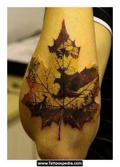 Awesome leaf/nature tattoo