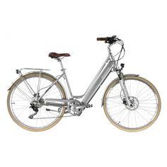 Das komfortable City E-Bike von Allegro mit einem integrierten Akku im Rahmen für mühelose Stadtrundfahrten. Der stylische und treue Begleiter lässt Sie auch auf Ihrem Arbeitsweg nicht ins Schwitzen kommen. Allegro Invisible City Premium  in silber - E Velo mit Akku und Komfort. Invisible Cities, Bicycle, Komfort, Unisex, Elegant, Veils, Silver, Loyalty, Lighting