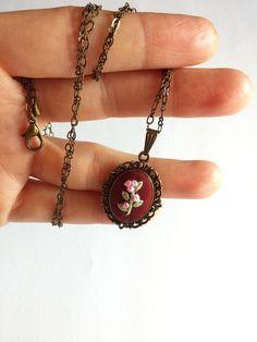 Unique necklaces for women Cute necklace Pink by RedWorkStitches