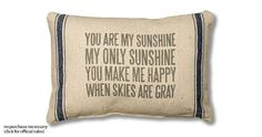 Win a You Are My Sunshine pillow - 10 winners {US}... IFTTT reddit giveaways freebies contests