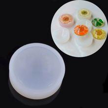 25mm DIY Handmade Transparente Hemisfério Molde de Silicone Flor Pedra Preciosa Coleção de Jóias(China (Mainland))