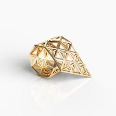 KUMIKO COLLECTION _ MORPH RING  PRODUCTION METHOD ・Designed using algorithms ・Manufactured by combining the highest quality 3D printer and casting technology 3d Printer, Artworks, It Cast, Stud Earrings, Technology, Prints, Accessories, Collection, Jewelry