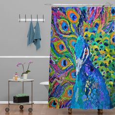 Elizabeth St Hilaire Nelson Cacophony of Color Shower Curtain