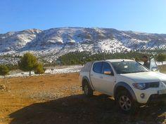 Ya en Marruecos, ¡sorpresa! nos encontramos nieve.