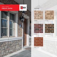 Brampton Brick Historic Series offers architectural clay bricks for commercial and residential use, featuring rounded edges and a traditional look Decorative Bricks, Brick Colors, Traditional Looks, Old World Charm, Orange, Yellow, Terracotta, Backsplash, Commercial