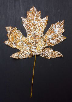 by Alisa Burke Autumn Crafts, Autumn Art, Nature Crafts, Autumn Leaves, Diy Christmas Gifts For Parents, Alisa Burke, Leaf Crafts, Painted Leaves, Leaf Art