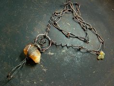 Spell of Binding | rough citrine and handmade chain | Vintajia Adornments