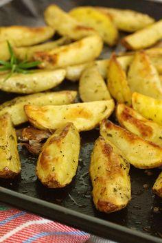 Cinco Quartos de Laranja: Batatas assadas com alecrim