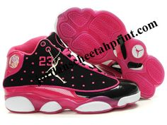 High heels \u0026middot; Air Jordan 13 Women Color Shoes Black/Pink For Sale