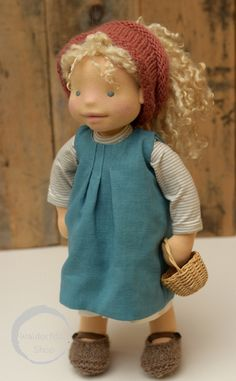 """https://flic.kr/p/CKtdkE   20"""" Natural Fibre Art Doll by Waldorfdollshop OOAK, Emily   Emily has been created using natural materials. Her beautiful curly hair is made of Teeswater locks. She is 20"""" tall and."""