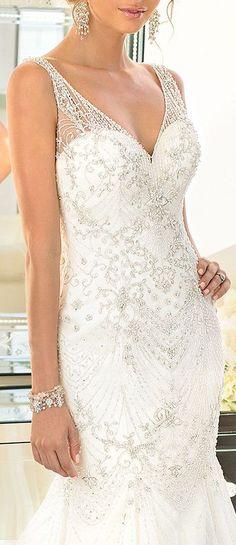 Exquisite Beading ღ L.O.V.E #dream #wedding #inspiration