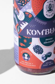 Vida Bebida Kombucha – Packaging and Brand Design Branding And Packaging, Fruit Packaging, Beverage Packaging, Bottle Packaging, Design Packaging, Food Branding, Coffee Packaging, Label Design, Graphic Design
