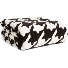 Vera Bradley Throw Blanket in Midnight Houndstooth featuring polyvore, home, bed & bath, bedding, blankets, blanket, midnight houndstooth, patterns, ziggy zinnia, vera bradley throw, vera bradley blanket throw, light weight blankets, oversized blankets and oversized bedding